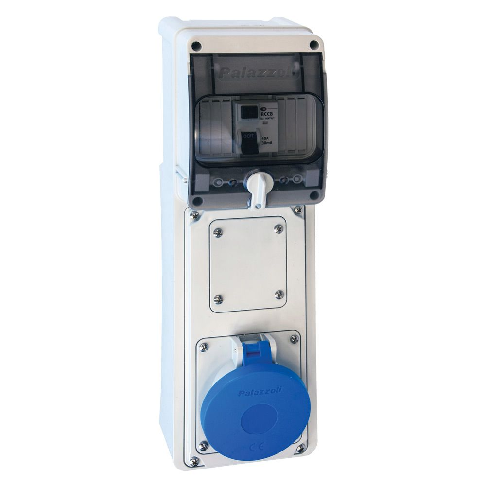 Lewden 16A 230V Blue Industrial RCD Socket 3 Pin Weatherproof IP44
