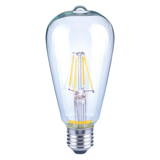 Image of Sylvania 7W Dimmable ES LED Vintage Filament Bulb Warm White 2700K