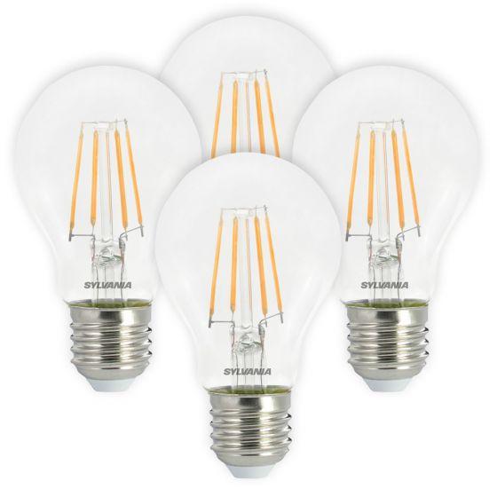 Image of Sylvania 4.5W ES E27 LED Filament GLS Bulbs Warm White 2700K 4 Pack