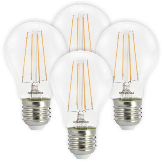 Image of Sylvania 7W ES E27 LED Filament GLS Bulbs Warm White 2700K 4 Pack