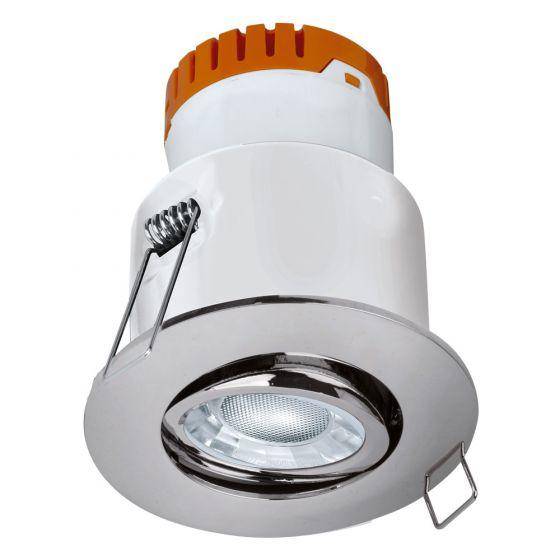 Image of Avenger LED Tilt Downlight Chrome Dimmable 8W 610lm 3000K IP20