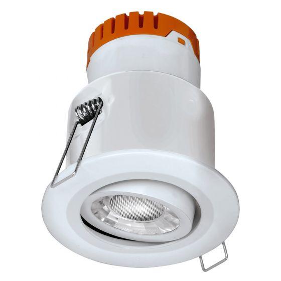 Image of Avenger LED Tilt Downlight White Dimmable 8W 610lm 3000K IP20