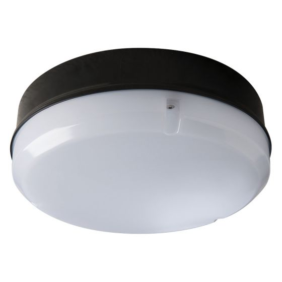Image of Avenue LED Round Bulkhead with Microwave 290mm 1150lm 12W 4000K IP65 Black Opal