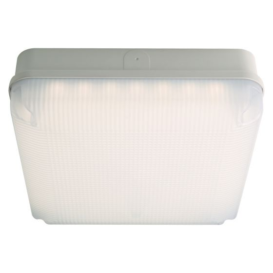 Image of Avenue LED Square Bulkhead 200mm 735lm 7W 4000K IP65 White Opal