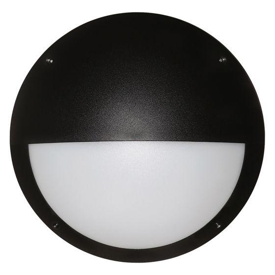 Image of Avenger Outdoor LED Eyelid Bulkhead 800lm 12W 4200K Black Opal IP65