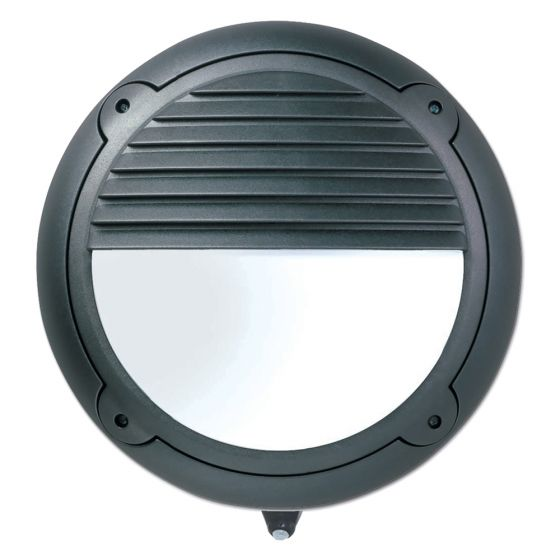 Image of Avenger Outdoor LED Eyelid Bulkhead with PIR 595lm 8W 4000K Black IP65