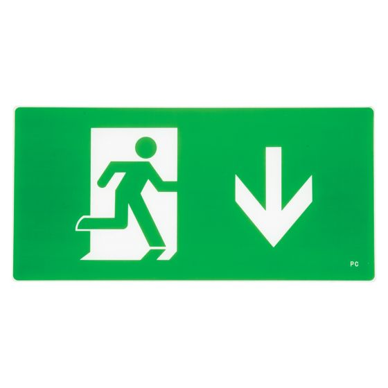 Image of Avenger LED Suspended Emergency Exit Sign Arrow Left and Right Maintained
