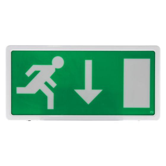 Image of Avenger LED Emergency Exit Sign 17lm 3 Hour Maintained IP20