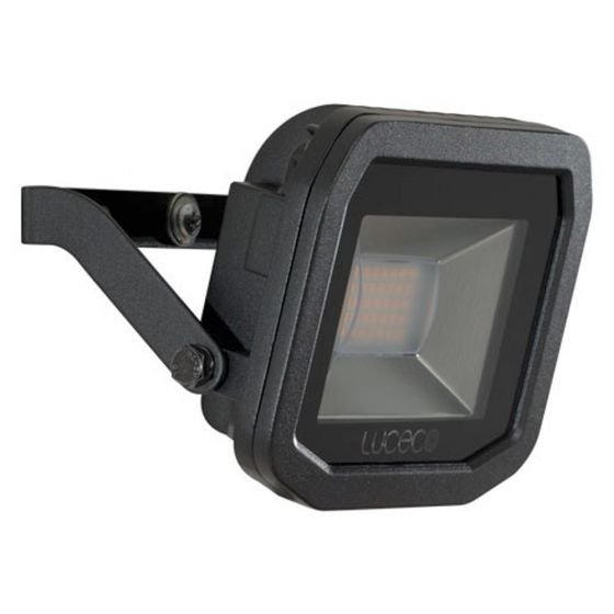 Image of Avenger Outdoor LED Slim Floodlight 1200lm 15W 5000K Black IP65