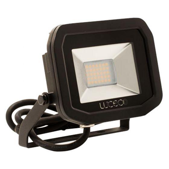 Image of Avenger Outdoor LED Slim Floodlight 1800lm 22W 3000K Black IP65