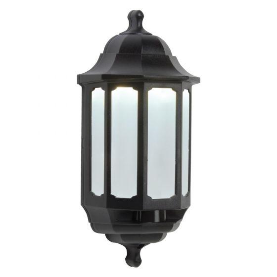 Image of Avenger LED Outdoor Half Lantern Light 8W Cool White Black Opal