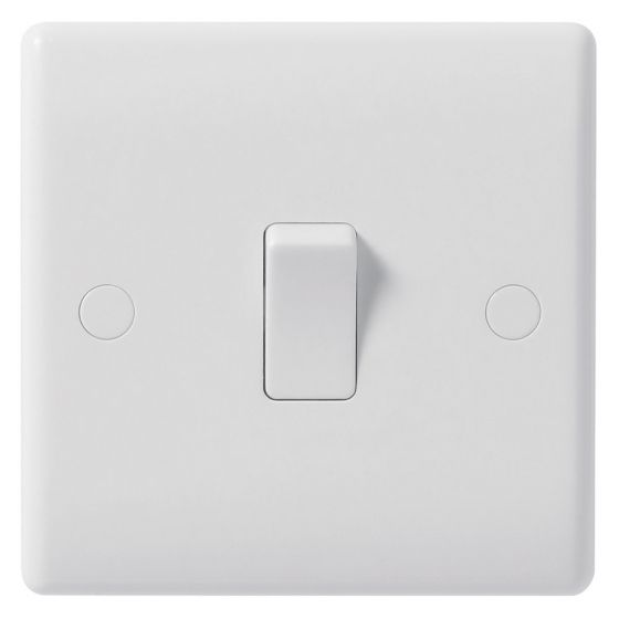 Image of Avenue Contour Intermediate Switch 10AX 1 Gang White