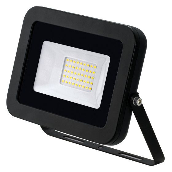Image of Avenger LED Floodlight 30W 4000K IP65 Black Outdoor