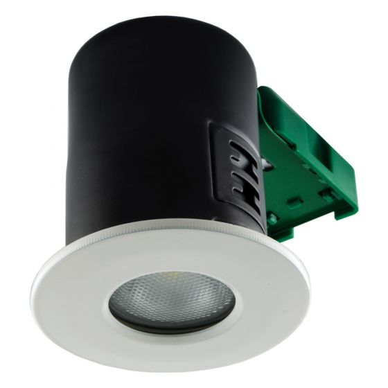 Image of Avenue GU10 Shower Downlight White Fire Rated No Lamp IP20
