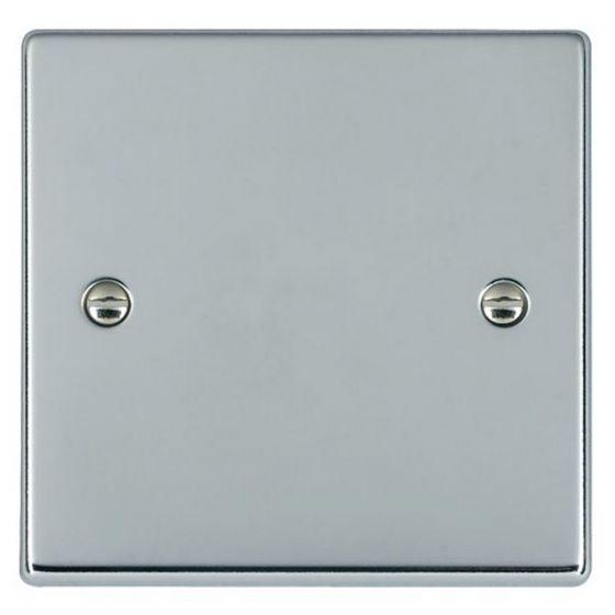 Image of Avenue Slim Single Blank Plate 1 Gang Polished Chrome