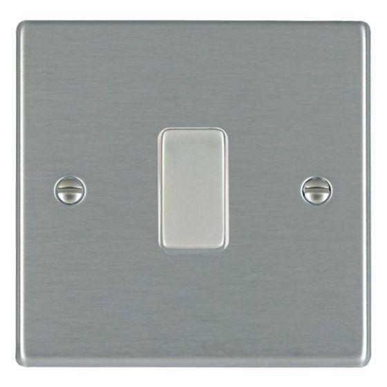 Image of Avenue Slim Intermediate Switch 10AX 1 Gang Satin Steel White