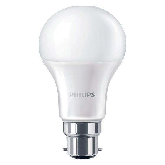Image of Philips 51006300 9W BC B22 LED GLS Light Bulb Frosted Warm White 2700K