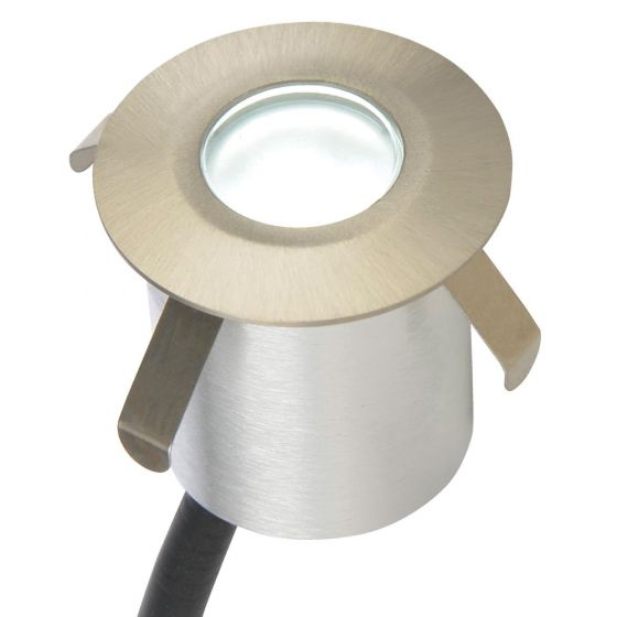 Image of Forum Round LED Plinth Light 180lm 0.5W 6000K Brushed Steel