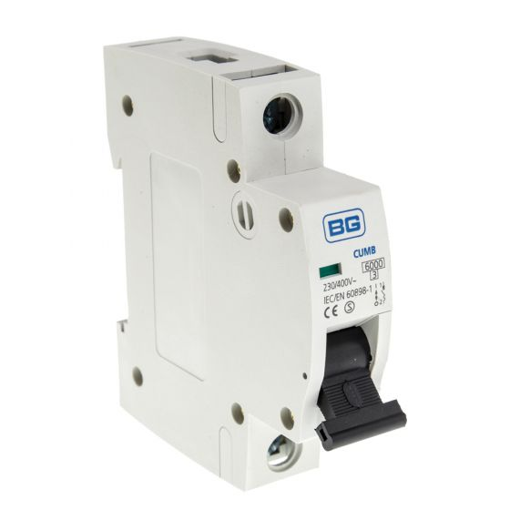 Image of BG Electric CUMB20 20A MCB Type B Single Pole 6kA Single Module