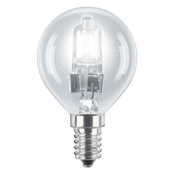 Image of 28W SES E14 Eco Halogen Golf Ball Light Bulb Warm White 2800K