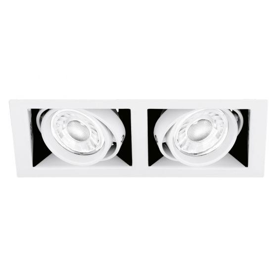 Image of Aurora Enlite ENMGU102MW Twin Adjustable GU10 Downlight Matt White