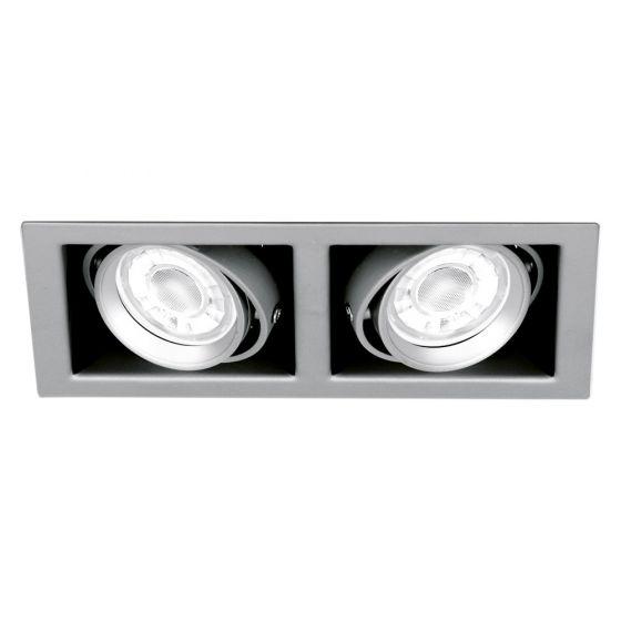 Image of Aurora Enlite ENMGU102SS Twin Adjustable GU10 Downlight Satin Silver