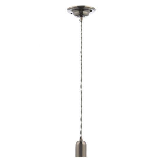 Image of Inlight Decorative Pendant E27 Black Nickel Lampholder Grey Cable