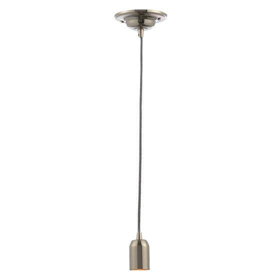 Image of Inlight Decorative Pendant E27 Nickel Lampholder Herringbone Cable