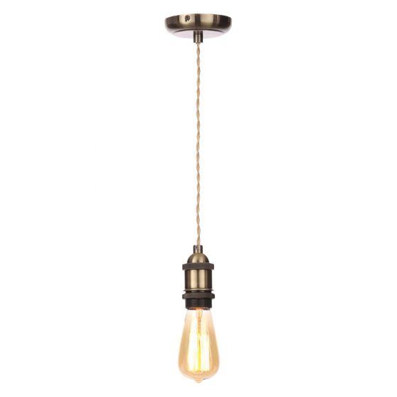 Image of Inlight Decorative Pendant E27 Brass Lampholder Champagne Cable