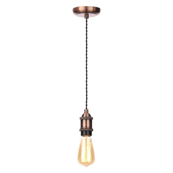 Image of Inlight Decorative Pendant E27 Copper Lampholder Black Cable