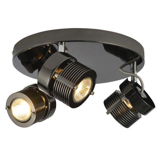 Image of Inlight Pedro Twin Plate GU10 Indoor Spotlight Black Chrome Steel