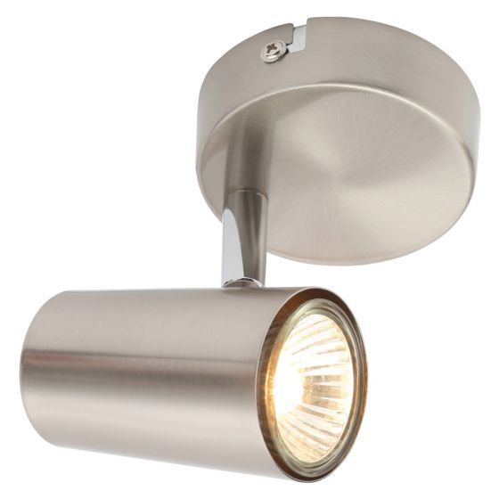 Image of Inlight Harvey Single Wall GU10 Indoor Spotlight Satin Nickel