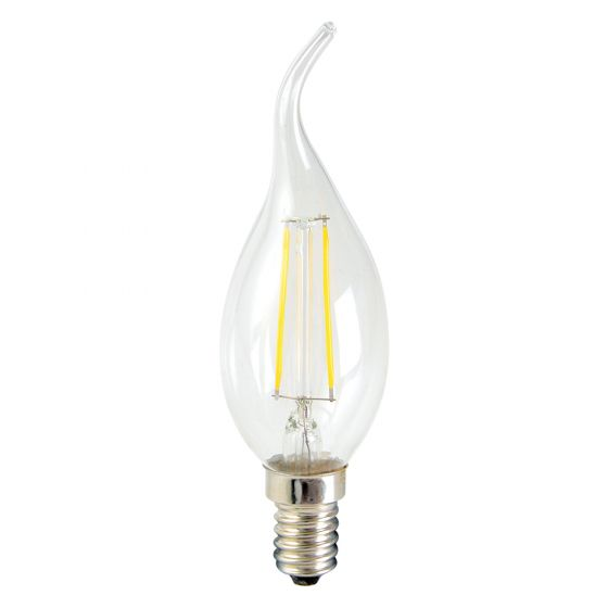 Image of INLIGHT 2W Flame Tip SES E14 LED Candle Light Bulb Warm 2200K