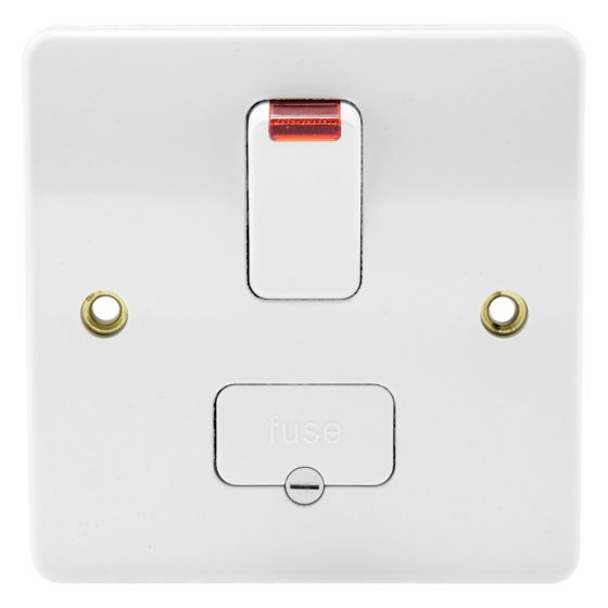 Image of MK Logic K370WHI Switched Fused Spur 13A DP Base Flex Outlet Neon Graphite