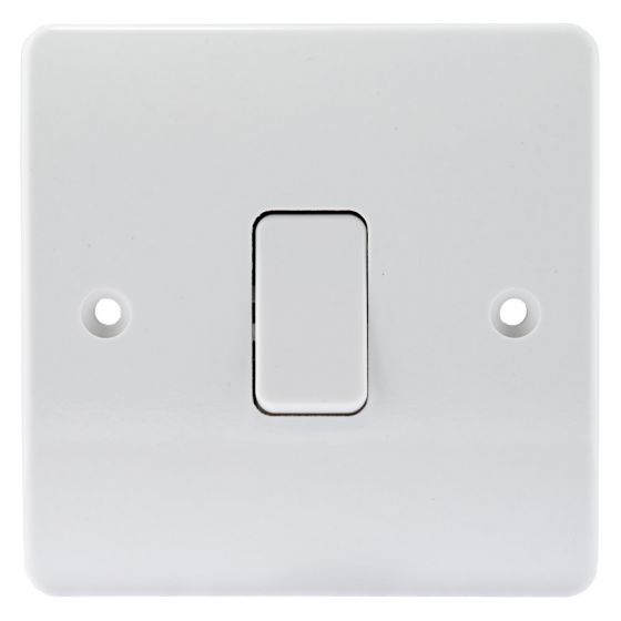 Image of MK Logic K4871WHI Light Switch 1 Gang 2 Way 10AX Single Pole White
