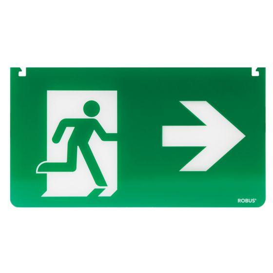 Robus LED RSSLR Exit Legend Arrow Left and Right