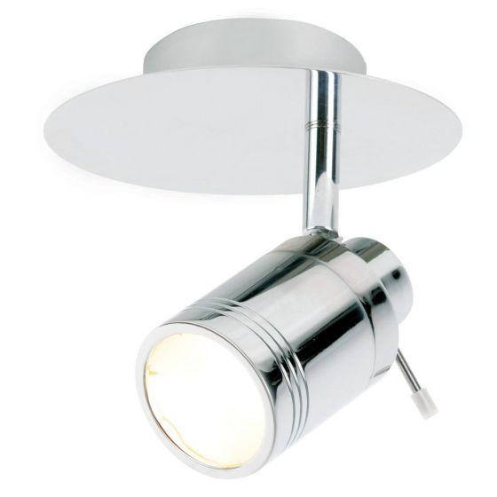 Image of Spa Scorpius Bathroom Single Wall Spotlight GU10 35W Chrome Glass