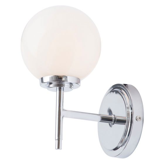 Image of Spa Porto Bathroom Wall Light 1x 28W G9 Chrome Opal