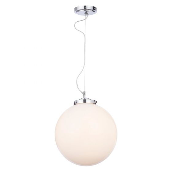 Image of Spa Porto Bathroom Ceiling Pendant Light 1x 28W G9 Chrome Opal