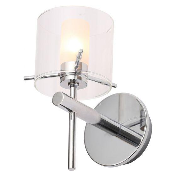 Image of Spa Gene Bathroom Wall Light 1x 28W G9 Clear Cylinder Chrome