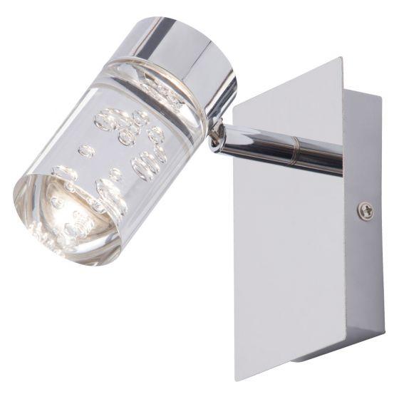 Image of Spa Felix Bathroom Single Wall LED Spotlight 5W Bubble Chrome