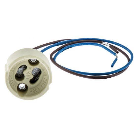 Image of Mains Voltage GU10 Lampholder for PAR16/ MR16 Dichroic Lamp 230V