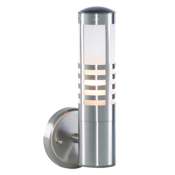 Image of Forum Zinc Outdoor Wall Lantern ES (E27) Stainless Steel and Glass