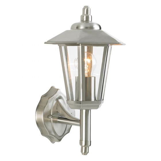 Image of Forum Zinc Zeta Outdoor Coach Lantern ES (E27) Stainless Steel