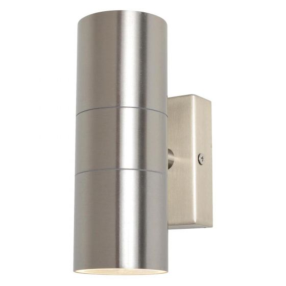 Image of Forum Zinc Leto Outdoor Wall Light GU10 Up and Down Stainless Steel