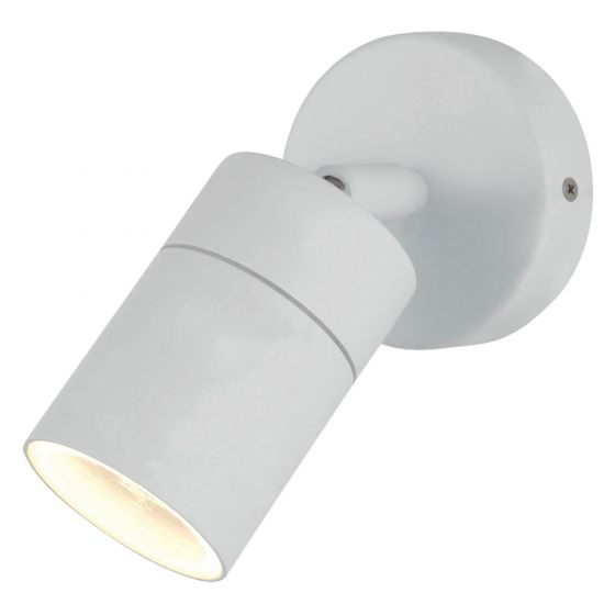 Image of Forum Zinc Leto Outdoor Wall Light GU10 Adjustable Spotlight White