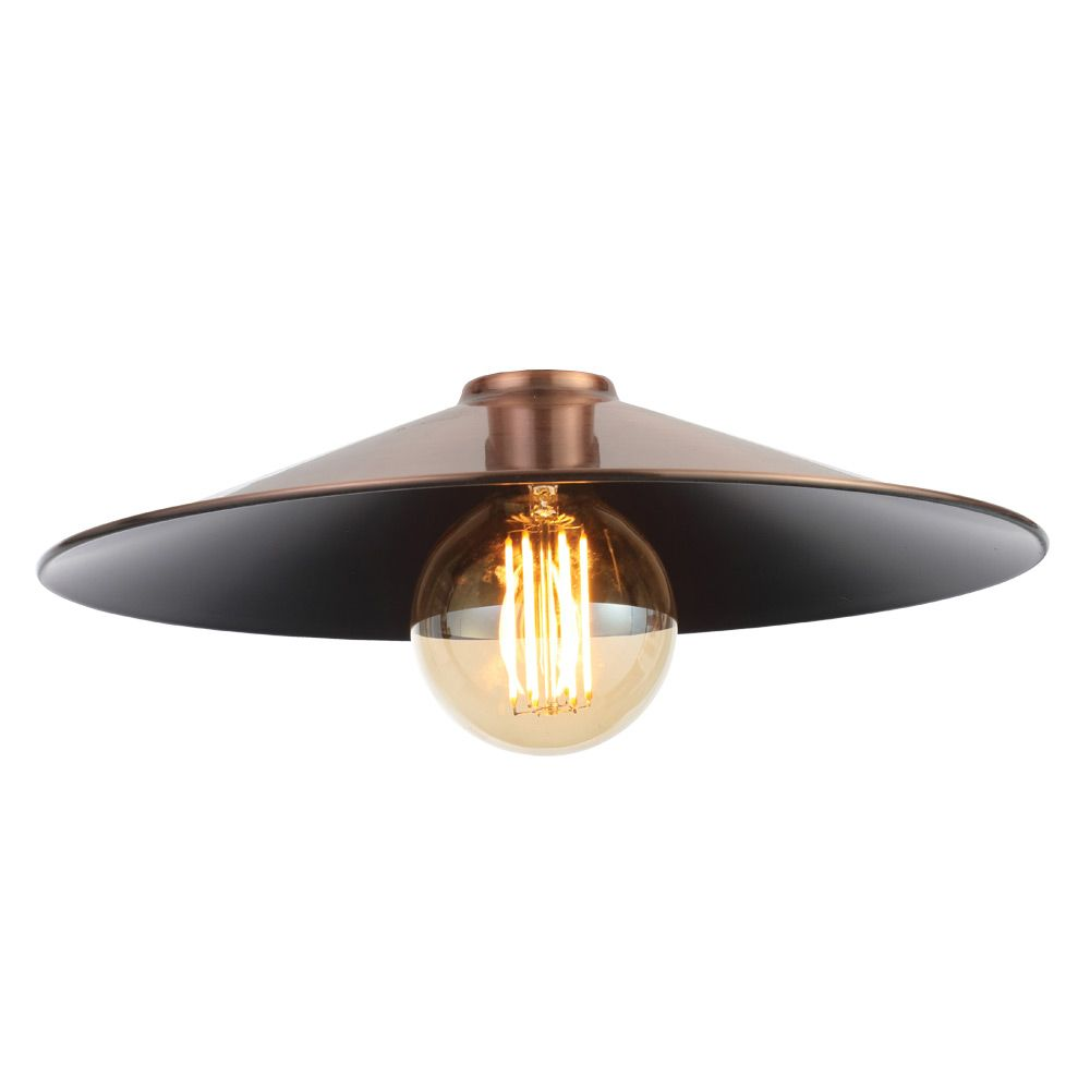 first rate b8f16 af1f2 Inlight Rigel Wide Fisherman's Pendant Ceiling Shade Antique Copper