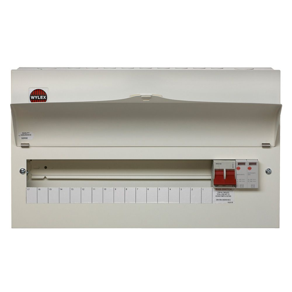 Wylex NM1706FLEXS 17 Way Consumer Unit Type 2 SPD | Fast UK Delivery | Wylex 17th Edition Fuse Box |  | Medlock Electrical Distributors