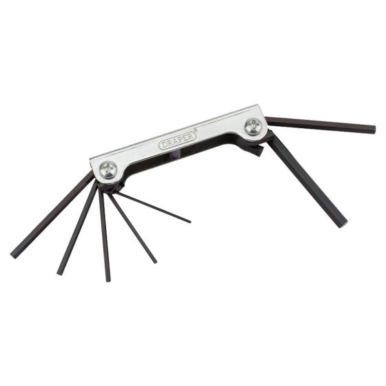 Image of Draper 33827 Allen Key Set Hardened Steel Pocket Set