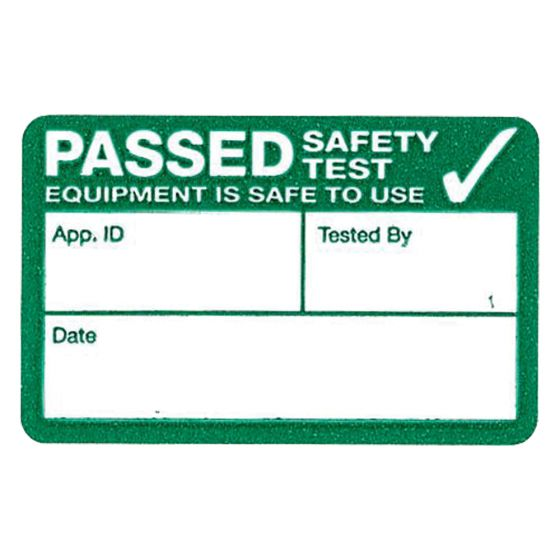 Image of Kewtech 500PASS Pass Test Appliance Labels 500 Fan Folded Stickers